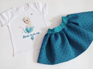 Комплект елза за рожден ден с дизайнерска пола от неопрен