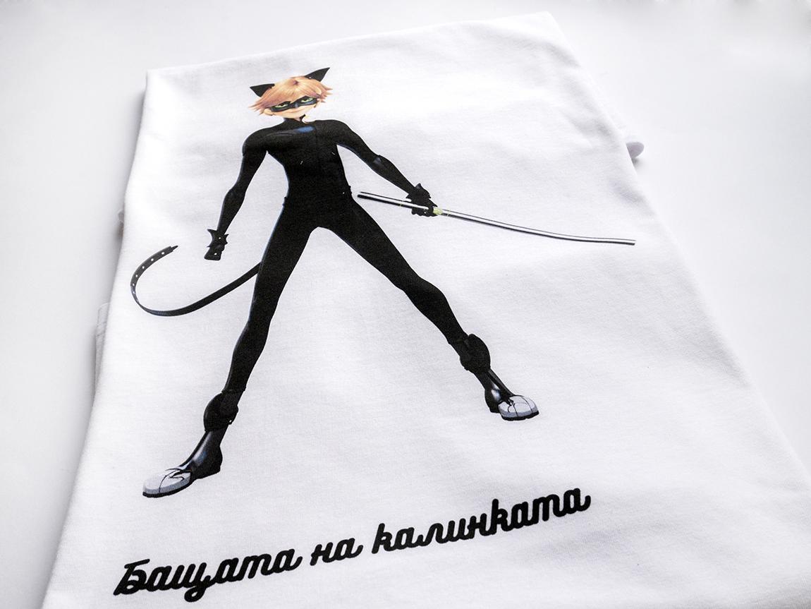 Тениска с калинката и котарака за момче
