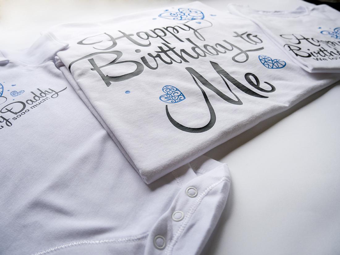 Комплект семейни блузи за рожден ден