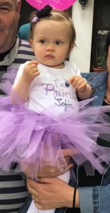 Принцеса София в бледо лилаво