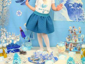 Комплект принцеса Елза с пола и блузка с надпис