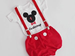 Бебешки комплект за рожден ден Мики Маус