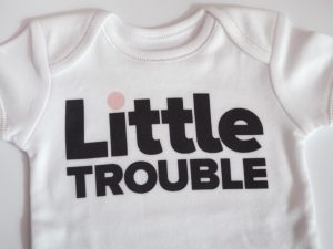 бебешко боди little touble