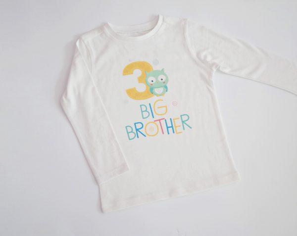 блузка за рожден ден бухалче с надпис по желание