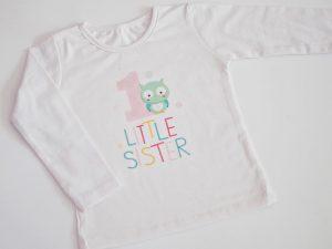 детска блуза за рожден ден с бухалче