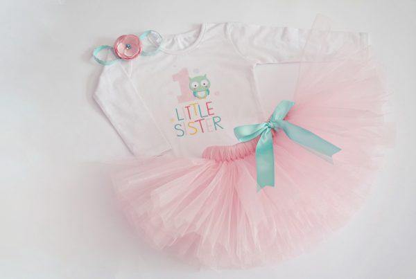 детски Комплект с блузка Розово бухалче