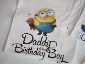 тениска миниони с надпис за таткото
