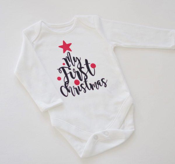 Бебешко боди My first christmas