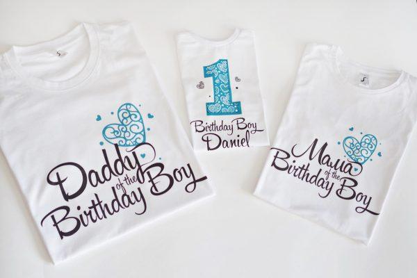 Комплект тениски Birthday boy за цялото семейство