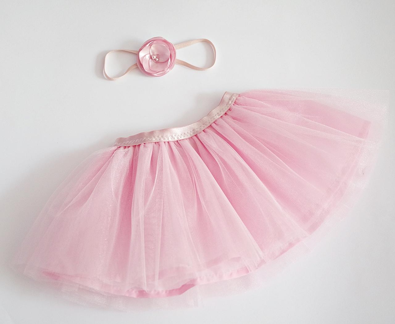 f0c251fda5e Розова пола от тюл с подарък аксесоар за коса по избор