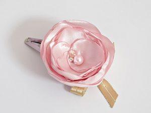 фиба за коса в розово и златно