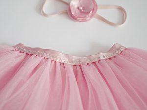 детска пола от тюл в розово